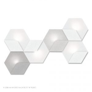 Siinne Heksagon valoelementti kpl akustiikkapaneelit v vh h