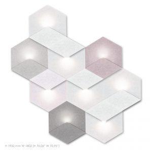 Siinne Heksagon valoelementti kpl akustiikkapaneelit varillinen
