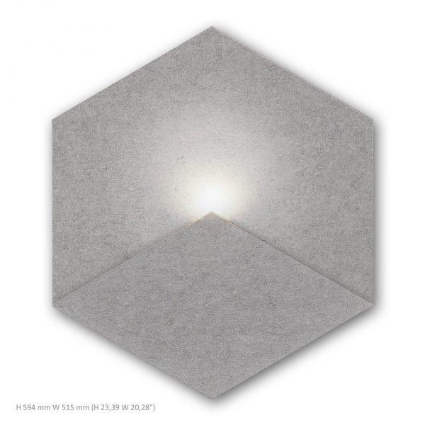 Siinne Heksagon valoelementti akustiikkapaneelit harmaa