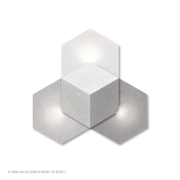 Siinne Heksagon valoelementti akustiikkapaneelit v vh h
