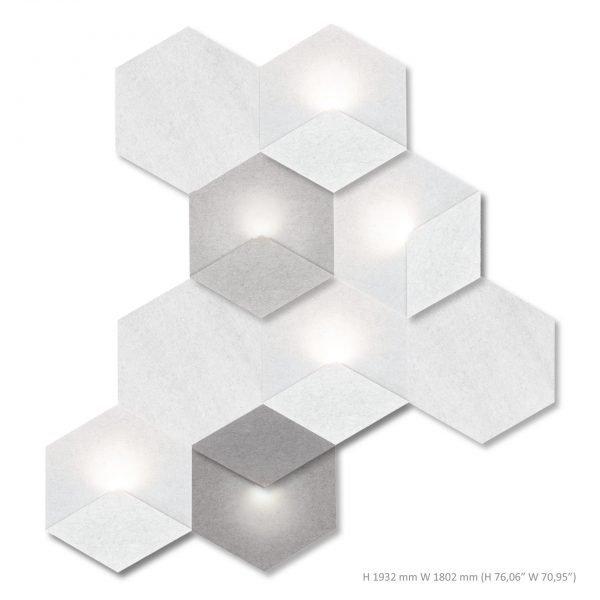 Siinne Heksagon yhdistelma akustiikkapaneelit