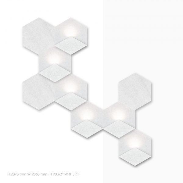 Siinne Heksagon yhdistelma postaikkoon akustiikkapaneelit