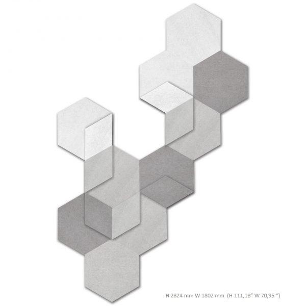 Siinne Heksagon elementit akustiikkapaneelit