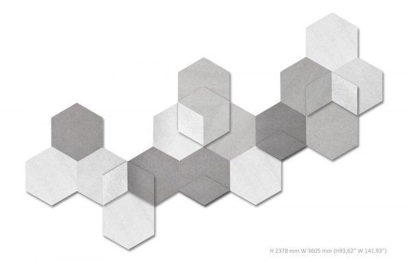 Siinne Heksagon elementti akustiikkaelementit