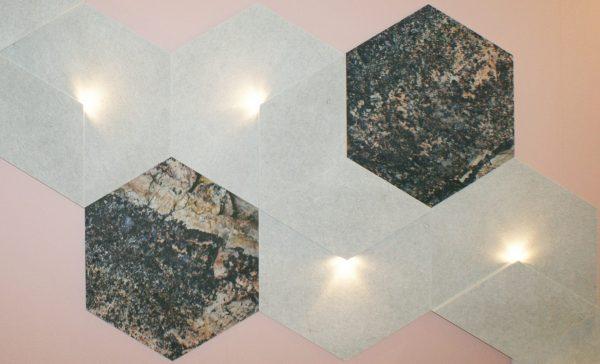 Siinne Heksagon Stone print