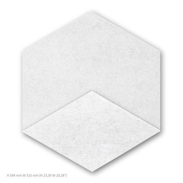 Siinne Heksagon elementti valkoinen