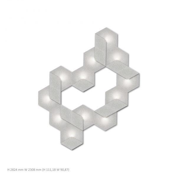Siinne Heksagon valoelementti kpl akustiikkapaneelit vh p