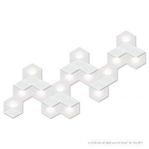 Siinne Heksagon valoelementti kpl akustiikkapaneelit v