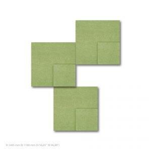 Siinne Nelio elementti kpl akustiikkapaneelit vihrea